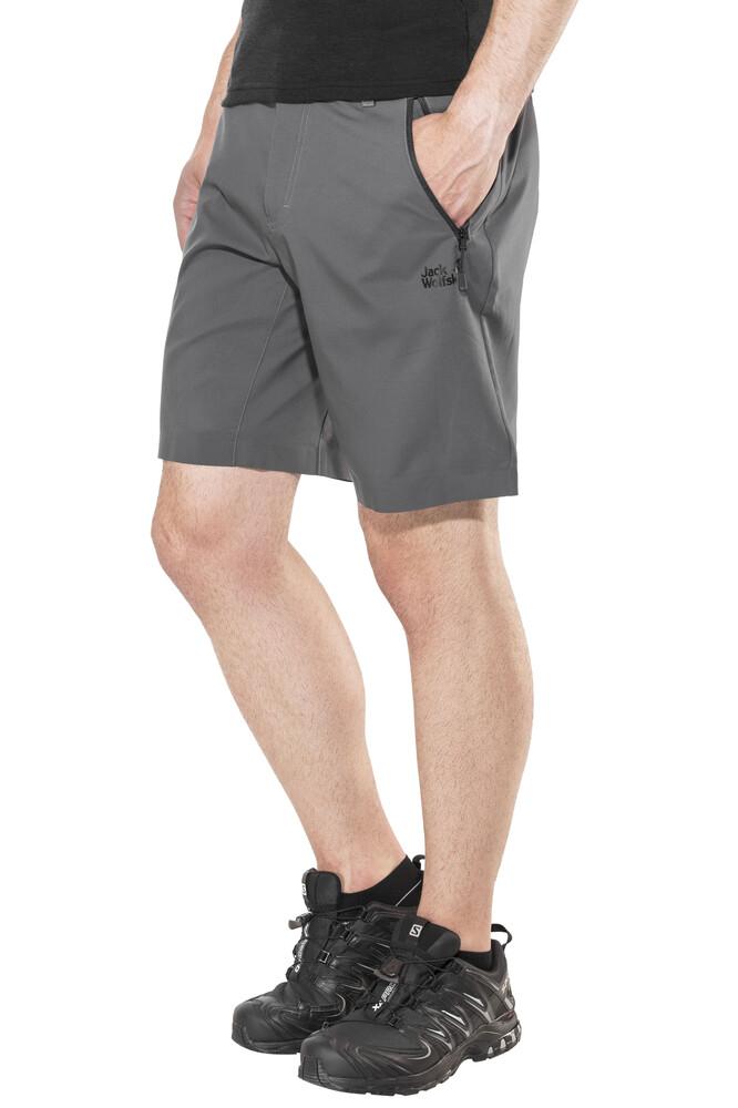 Jack Wolfskin Active Track korte broek Heren grijs